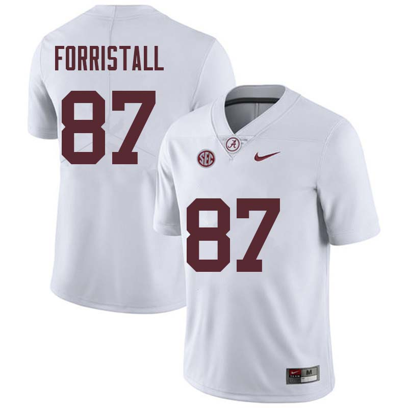 Men #87 Miller Forristall Alabama Crimson Tide College Football Jerseys Sale-White