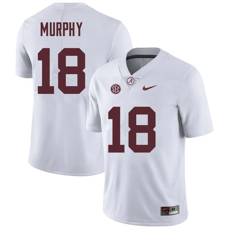 Men #18 Montana Murphy Alabama Crimson Tide College Football Jerseys Sale-White