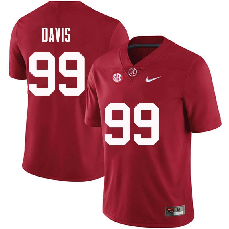 Men #99 Raekwon Davis Alabama Crimson Tide College Football Jerseys Sale-Crimson