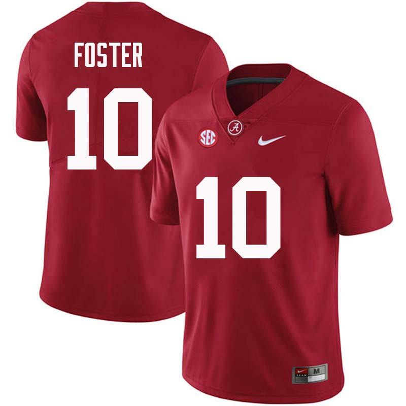 Men #10 Reuben Foster Alabama Crimson Tide College Football Jerseys Sale-Crimson