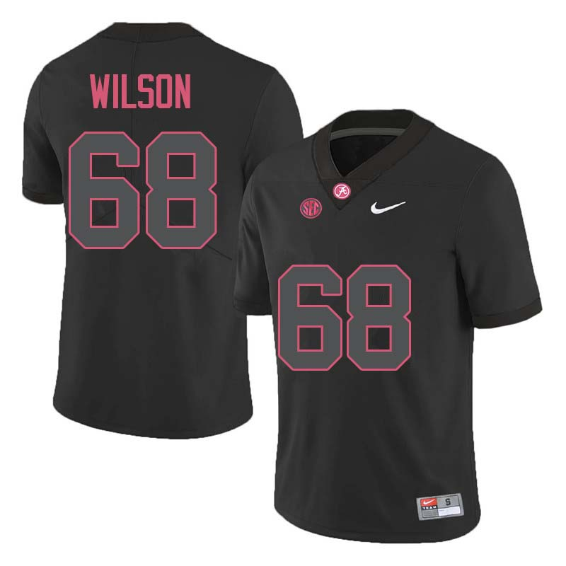 Men #68 Taylor Wilson Alabama Crimson Tide College Football Jerseys Sale-Black