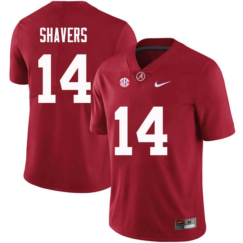 Men #14 Tyrell Shavers Alabama Crimson Tide College Football Jerseys Sale-Crimson