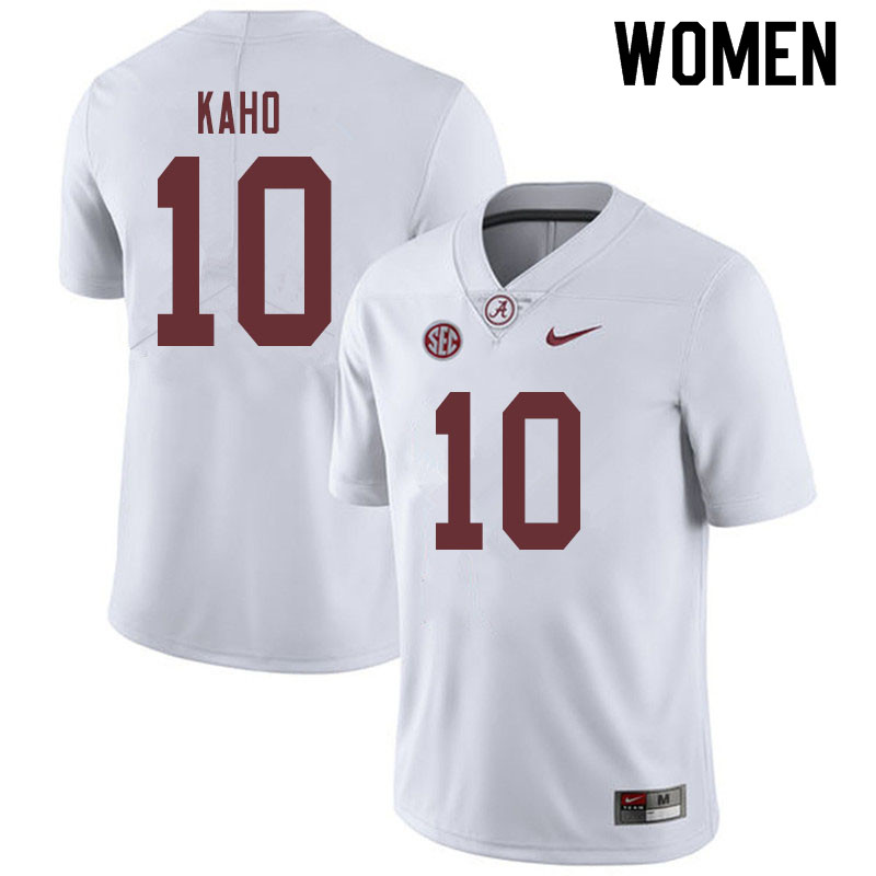 Women #10 Ale Kaho Alabama Crimson Tide College Football Jerseys Sale-White