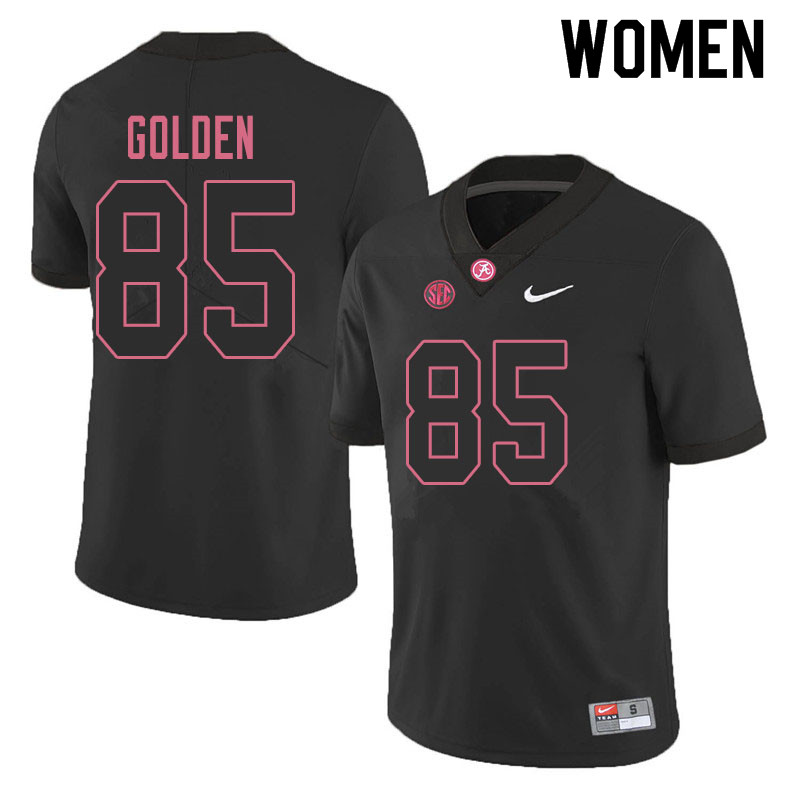 Women #85 Chris Golden Alabama Crimson Tide College Football Jerseys Sale-Blackout