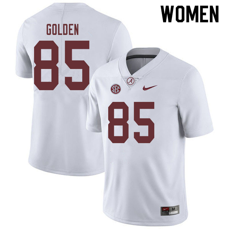 Women #85 Chris Golden Alabama Crimson Tide College Football Jerseys Sale-White