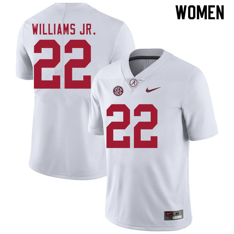 Women #22 Ronald Williams Jr. Alabama White Tide College Football Jerseys Sale-White
