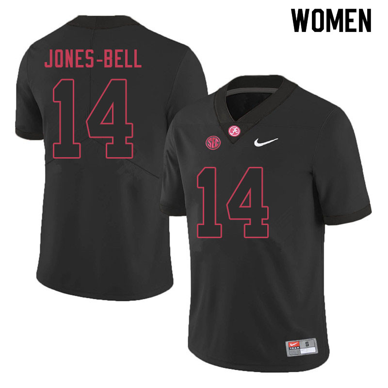 Women #14 Thaiu Jones-Bell Alabama Crimson Tide College Football Jerseys Sale-Black