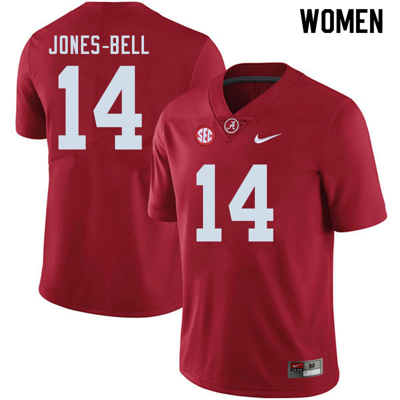 Women #14 Thaiu Jones-Bell Alabama Crimson Tide College Football Jerseys Sale-Crimson