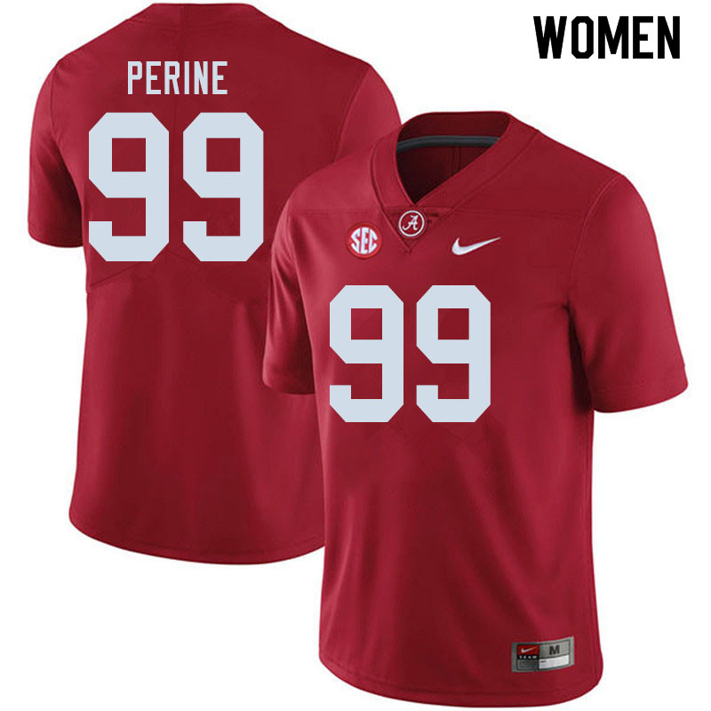 Women #99 Ty Perine Alabama Crimson Tide College Football Jerseys Sale-Crimson