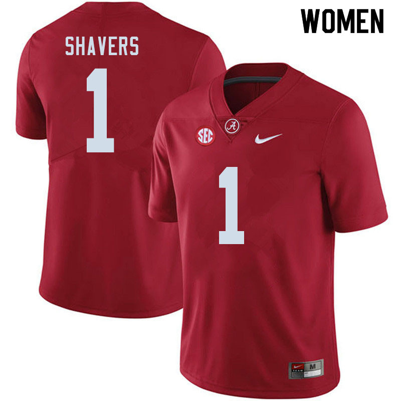Women #1 Tyrell Shavers Alabama Crimson Tide College Football Jerseys Sale-Crimson