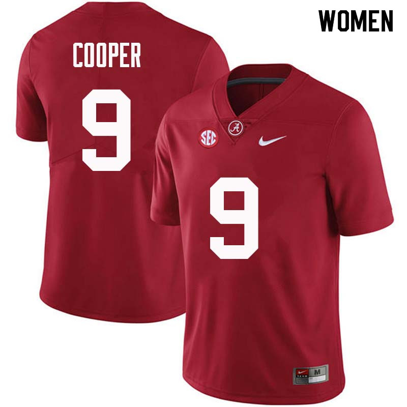 Women #9 Amari Cooper Alabama Crimson Tide College Football Jerseys Sale-Crimson
