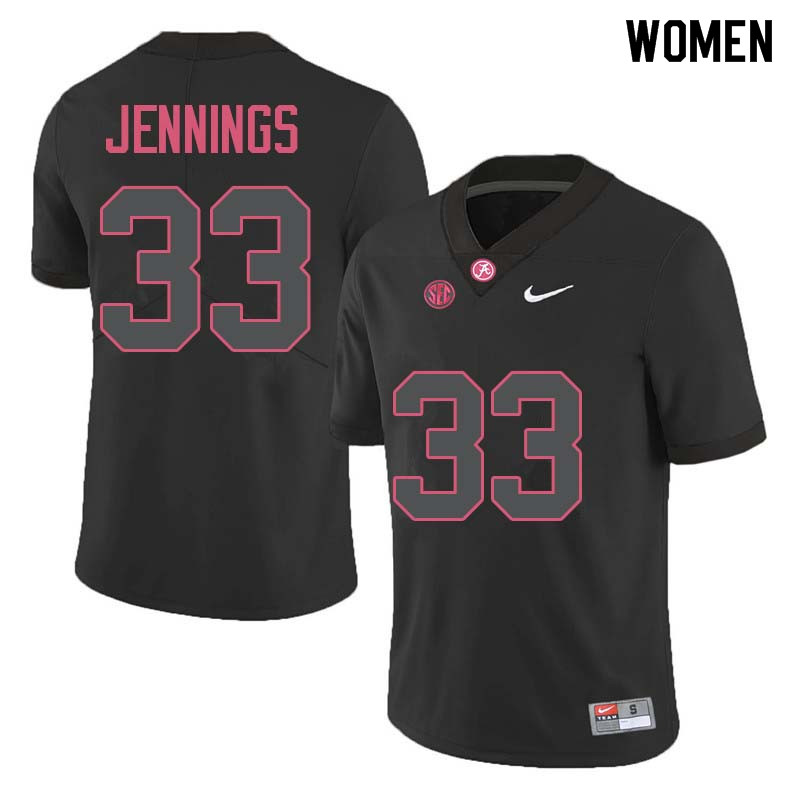 Women #33 Anfernee Jennings Alabama Crimson Tide College Football Jerseys Sale-Black