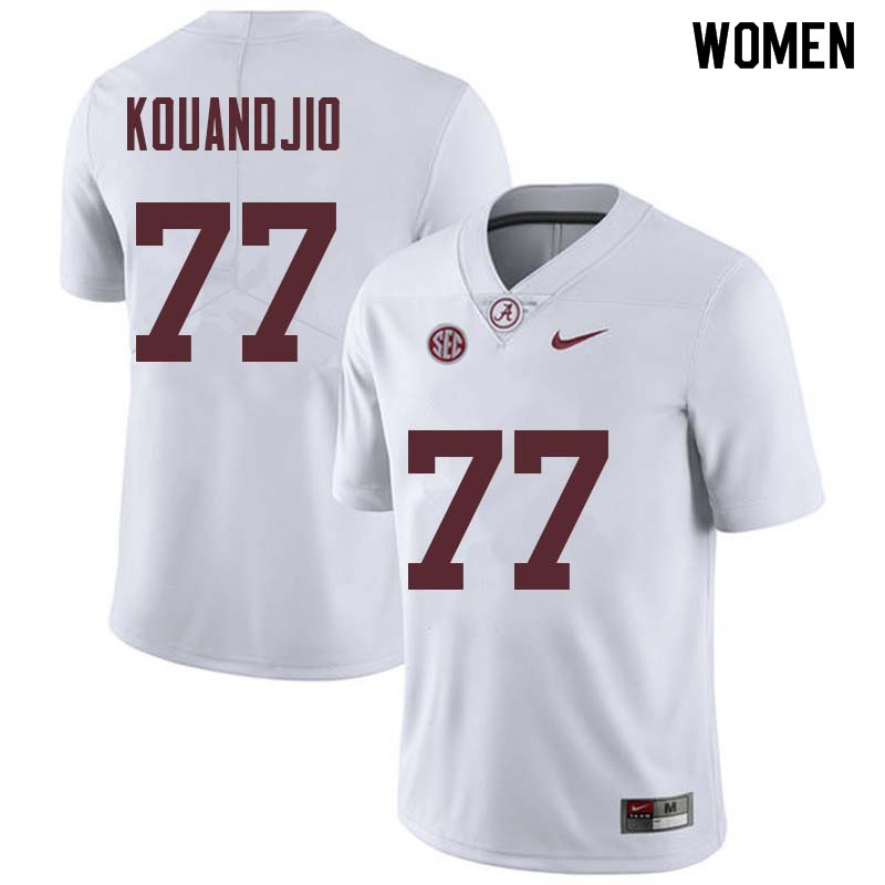 Women #77 Arie Kouandjio Alabama Crimson Tide College Football Jerseys Sale-White