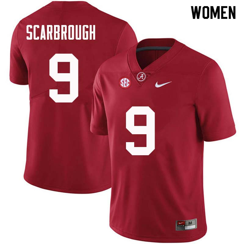 Women #9 Bo Scarbrough Alabama Crimson Tide College Football Jerseys Sale-Crimson