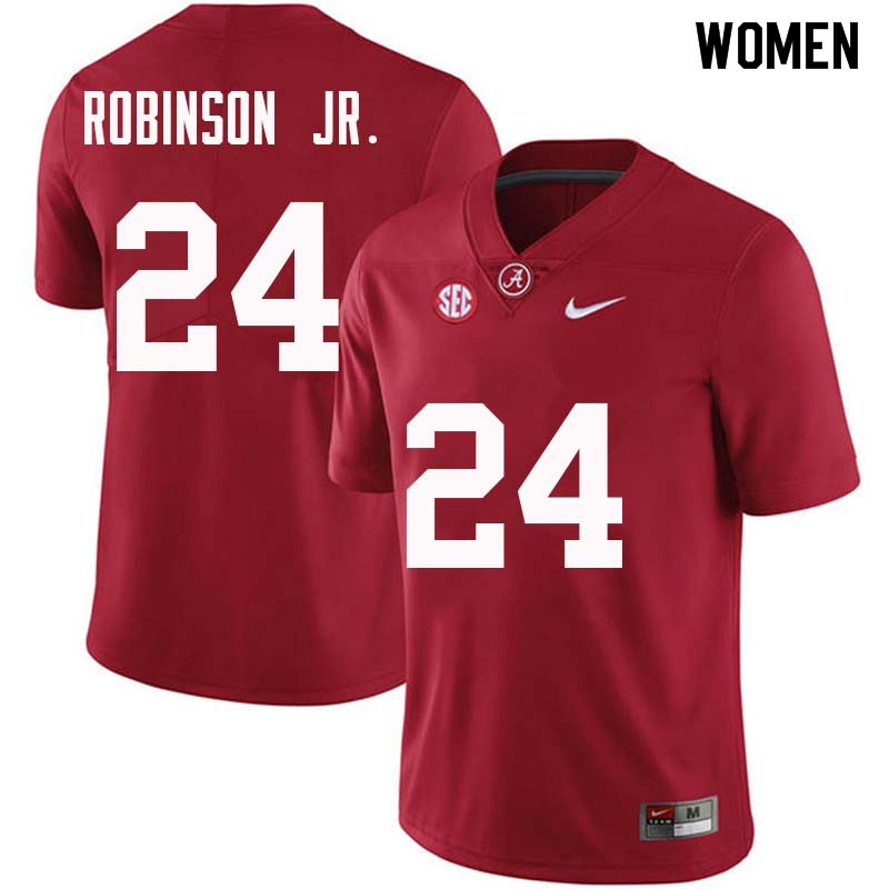 Women #24 Brian Robinson Jr. Alabama Crimson Tide College Football Jerseys Sale-Crimson