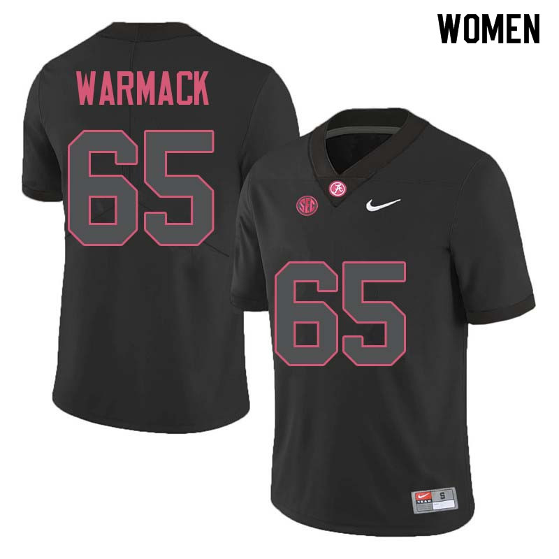 Women #65 Chance Warmack Alabama Crimson Tide College Football Jerseys Sale-Black