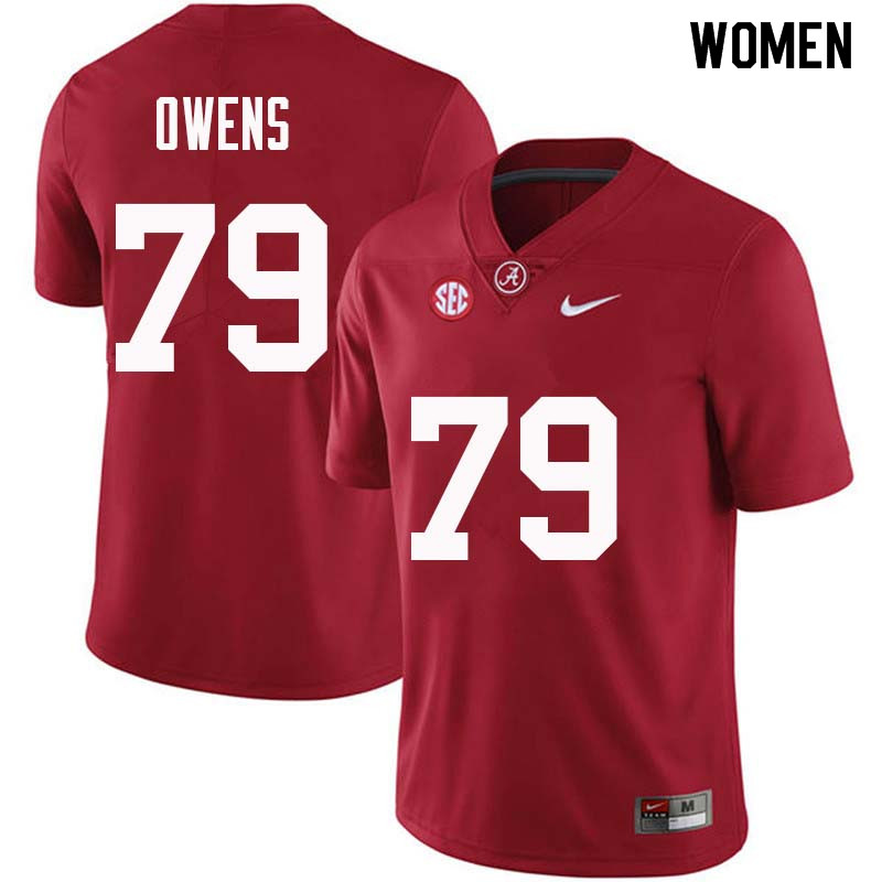 Women #79 Chris Owens Alabama Crimson Tide College Football Jerseys Sale-Crimson