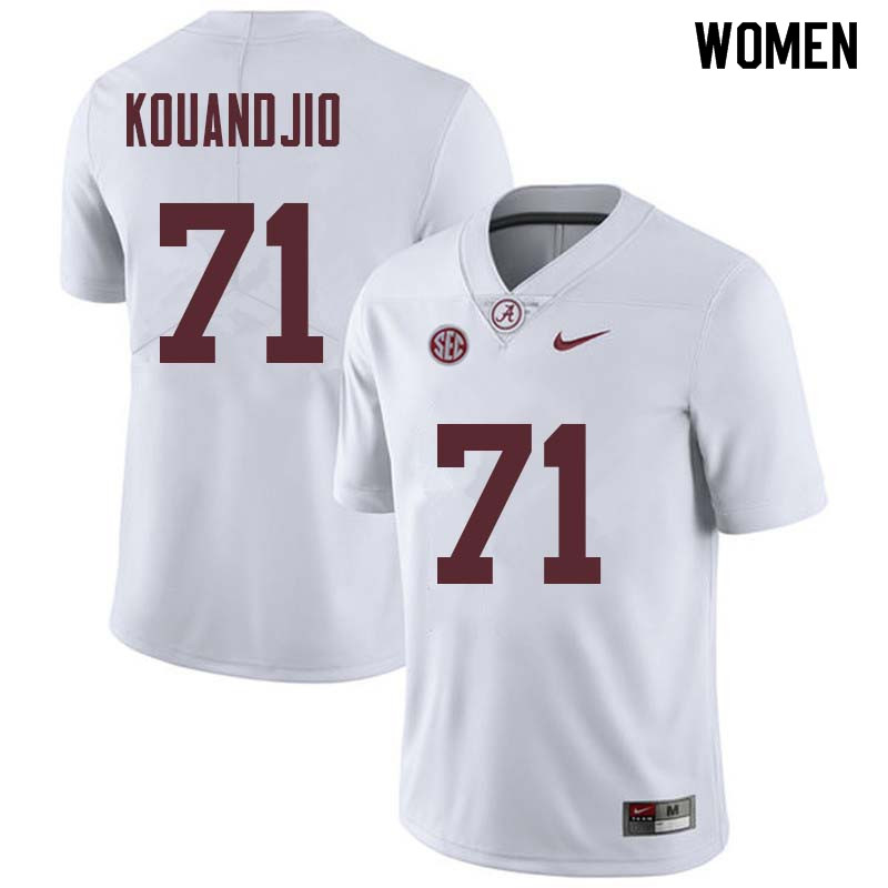 Women #71 Cyrus Kouandjio Alabama Crimson Tide College Football Jerseys Sale-White