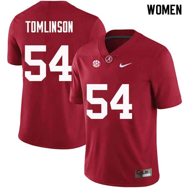 Women #54 Dalvin Tomlinson Alabama Crimson Tide College Football Jerseys Sale-Crimson