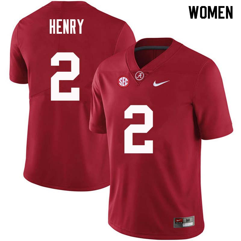 Women #2 Derrick Henry Alabama Crimson Tide College Football Jerseys Sale-Crimson