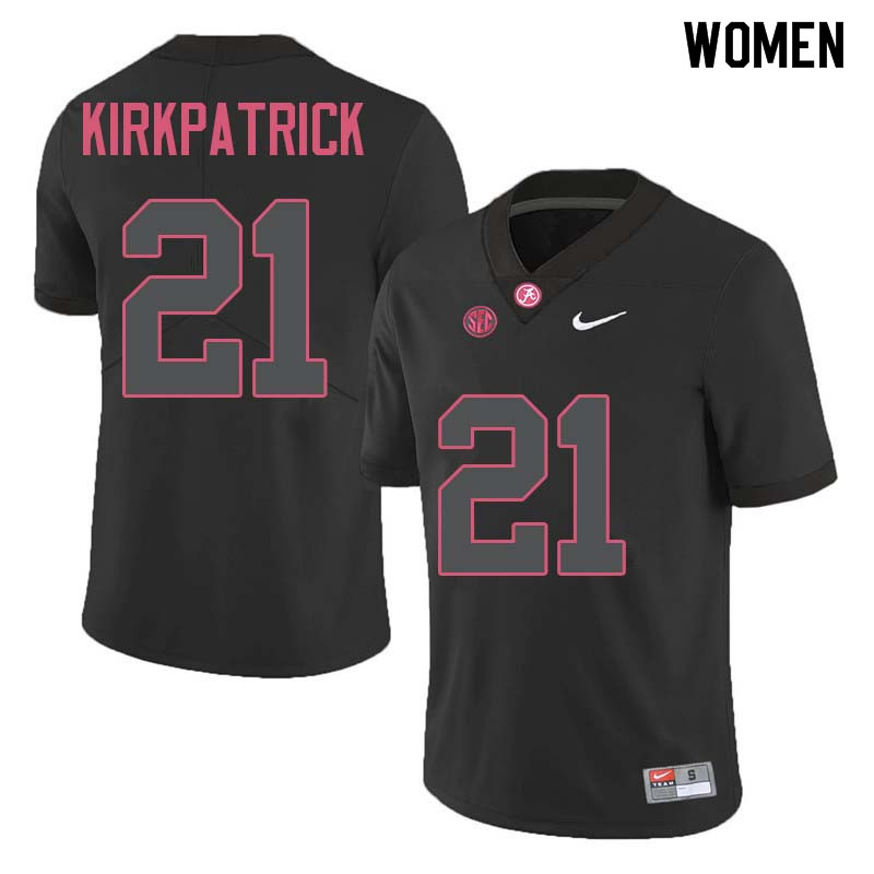 Women #21 Dre Kirkpatrick Alabama Crimson Tide College Football Jerseys Sale-Black