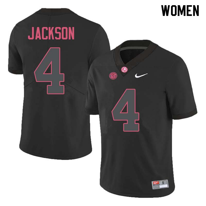 Women #4 Eddie Jackson Alabama Crimson Tide College Football Jerseys Sale-Black