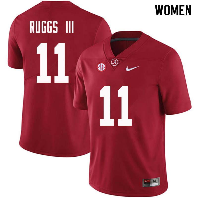 Women #11 Henry Ruggs III Alabama Crimson Tide College Football Jerseys Sale-Crimson