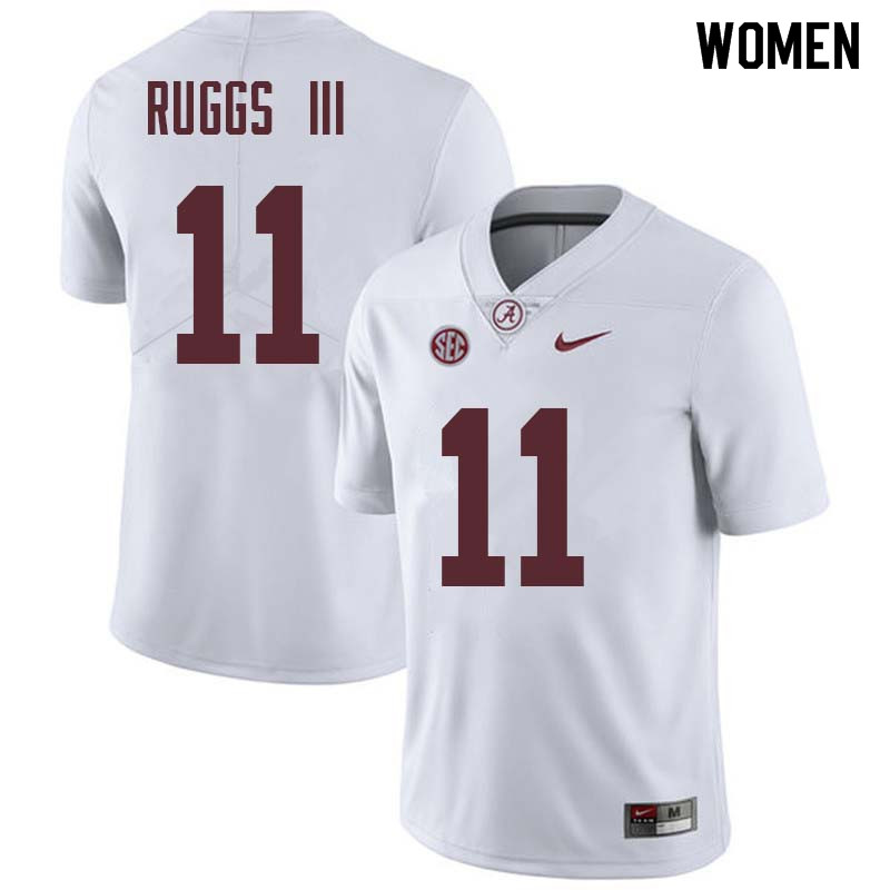Women #11 Henry Ruggs III Alabama Crimson Tide College Football Jerseys Sale-White