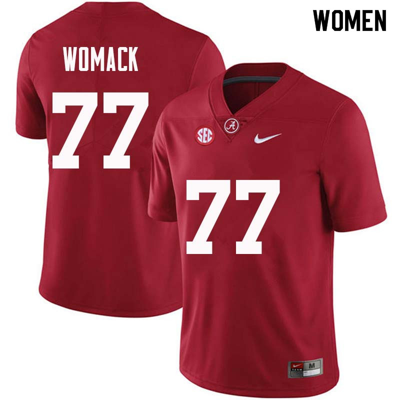 Women #77 Matt Womack Alabama Crimson Tide College Football Jerseys Sale-Crimson
