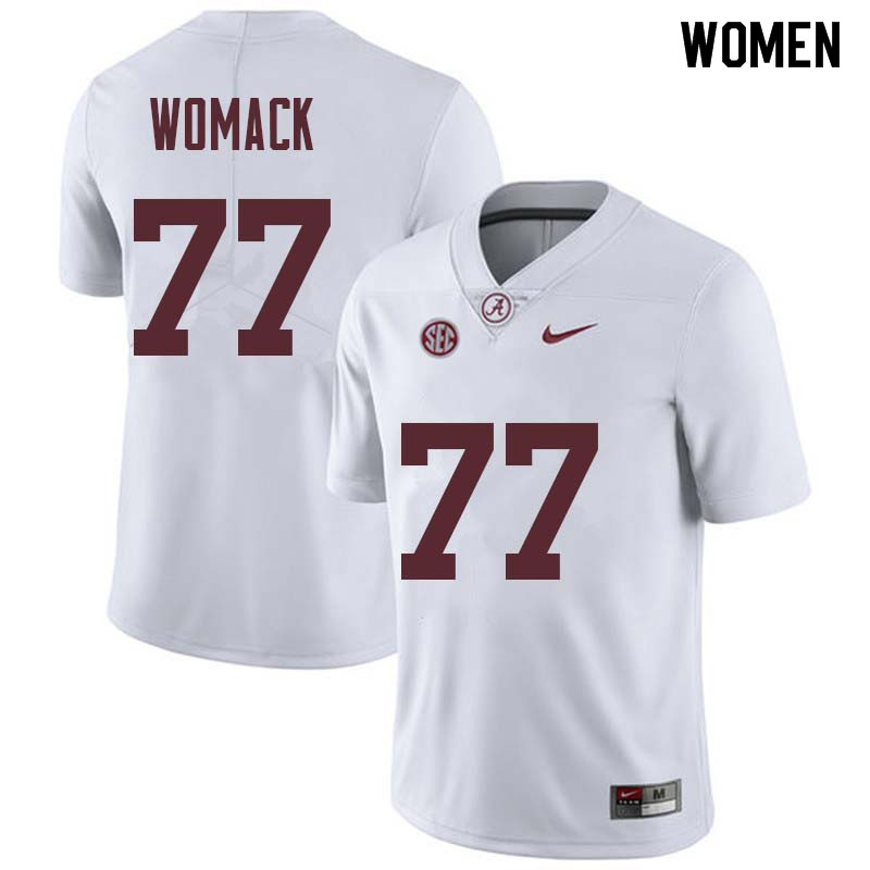 Women #77 Matt Womack Alabama Crimson Tide College Football Jerseys Sale-White