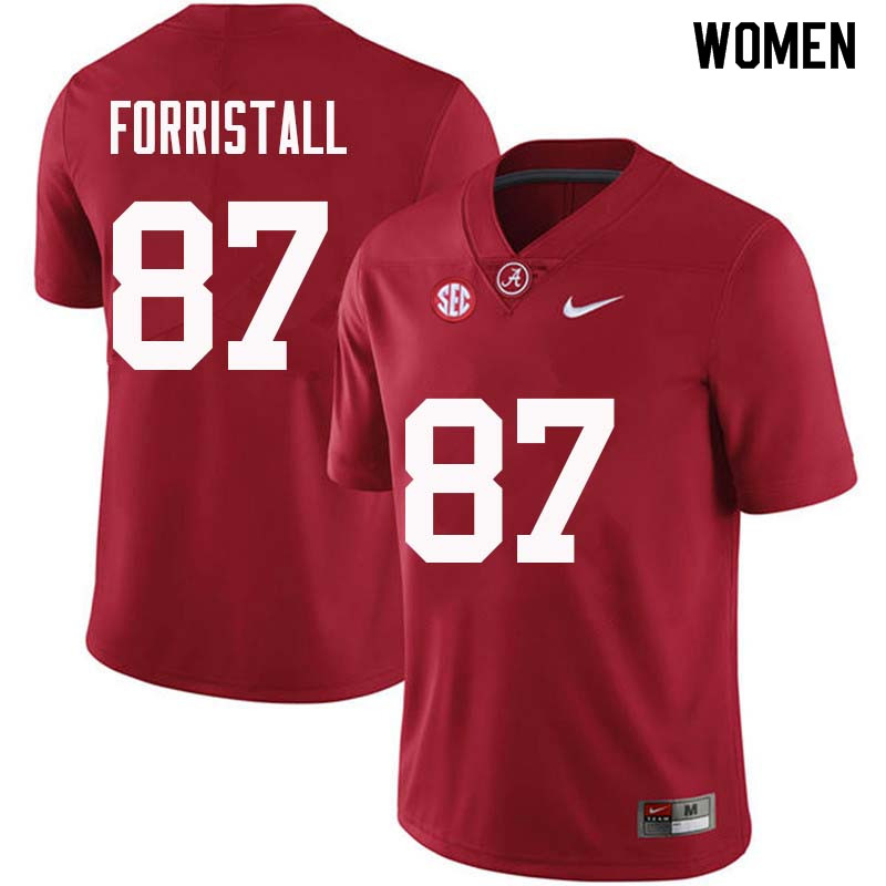Women #87 Miller Forristall Alabama Crimson Tide College Football Jerseys Sale-Crimson