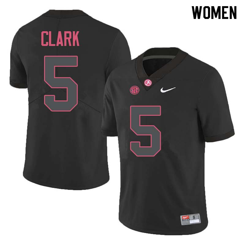 Women #5 Ronnie Clark Alabama Crimson Tide College Football Jerseys Sale-Black