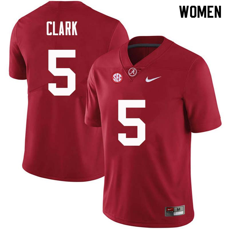 Women #5 Ronnie Clark Alabama Crimson Tide College Football Jerseys Sale-Crimson