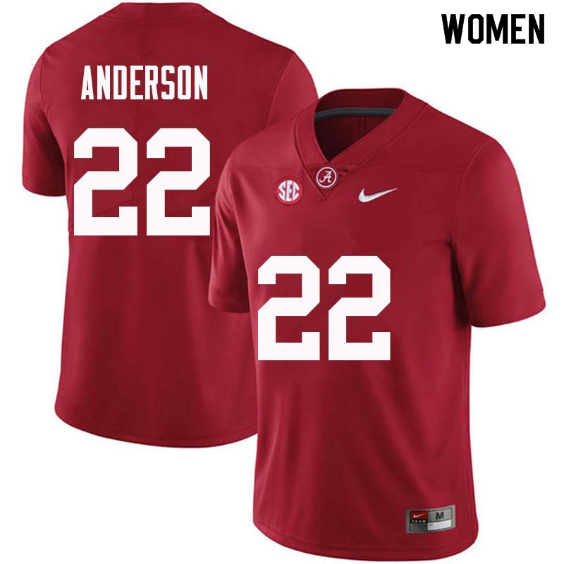 Women #22 Ryan Anderson Alabama Crimson Tide College Football Jerseys Sale-Crimson