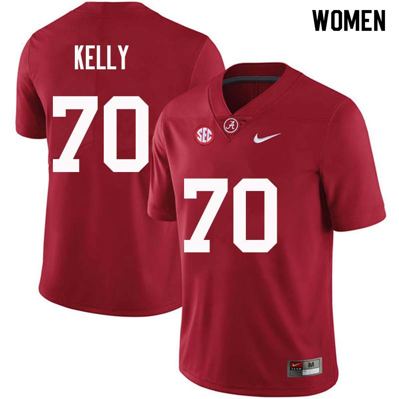 Women #70 Ryan Kelly Alabama Crimson Tide College Football Jerseys Sale-Crimson