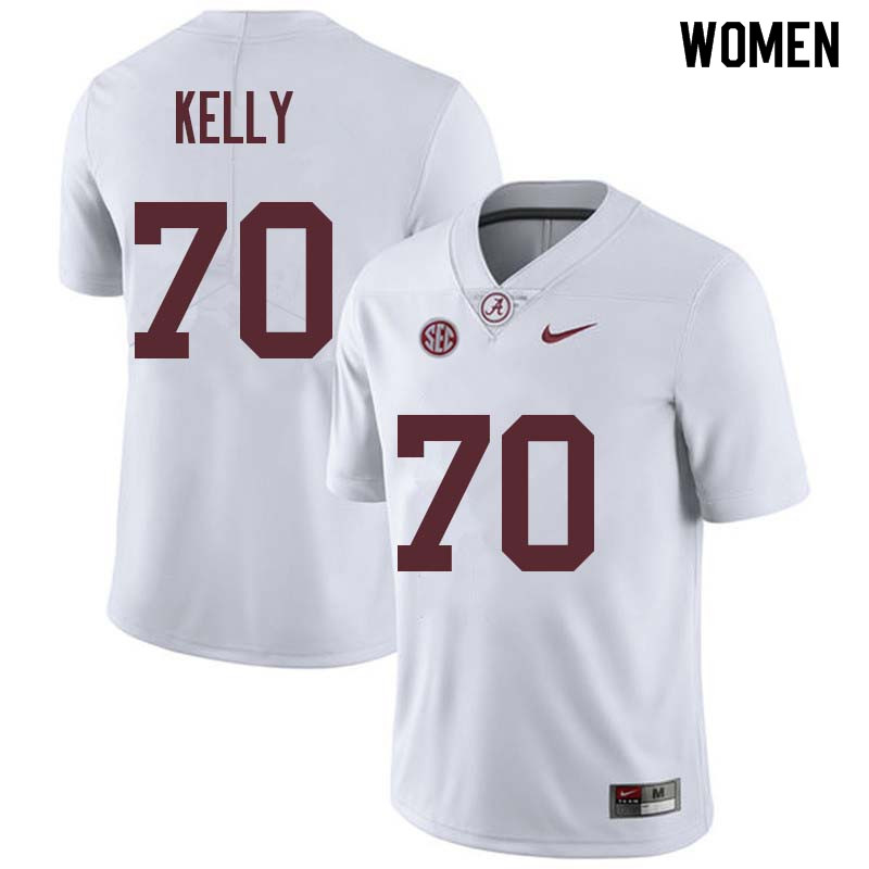 Women #70 Ryan Kelly Alabama Crimson Tide College Football Jerseys Sale-White