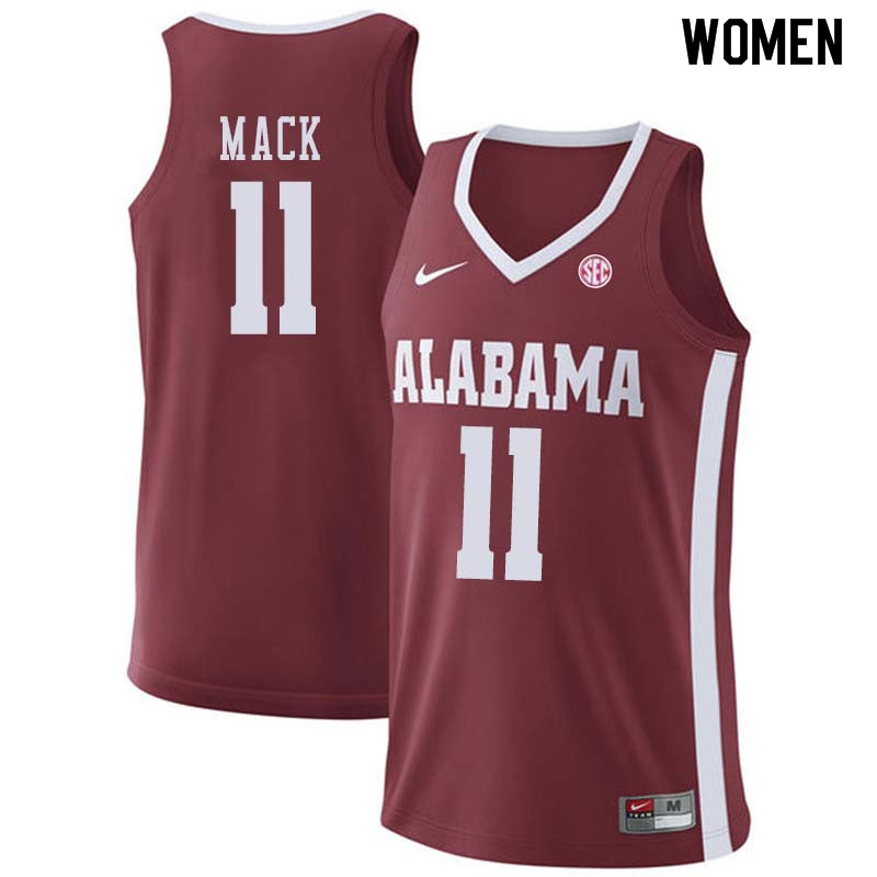 Women #55 Donta Hall Alabama Crimson Tide College Basketball Jerseys Sale-Crimson