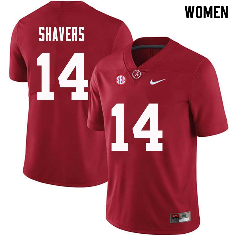 Women #14 Tyrell Shavers Alabama Crimson Tide College Football Jerseys Sale-Crimson