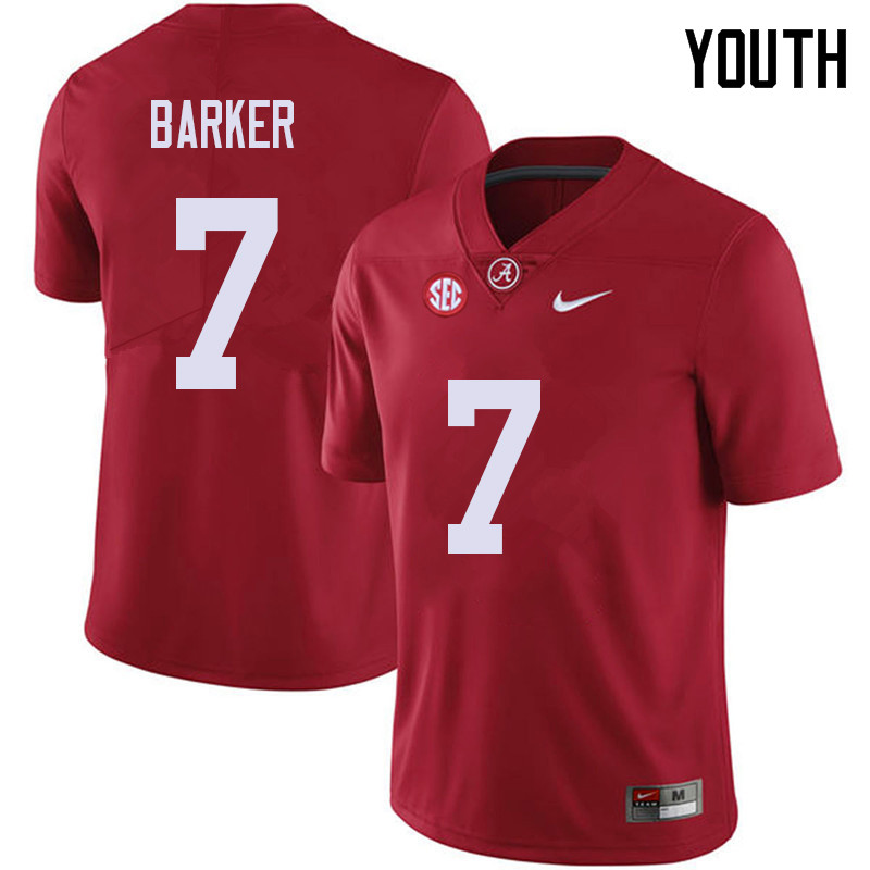 Youth #7 Braxton Barker Alabama Crimson Tide College Football Jerseys Sale-Red