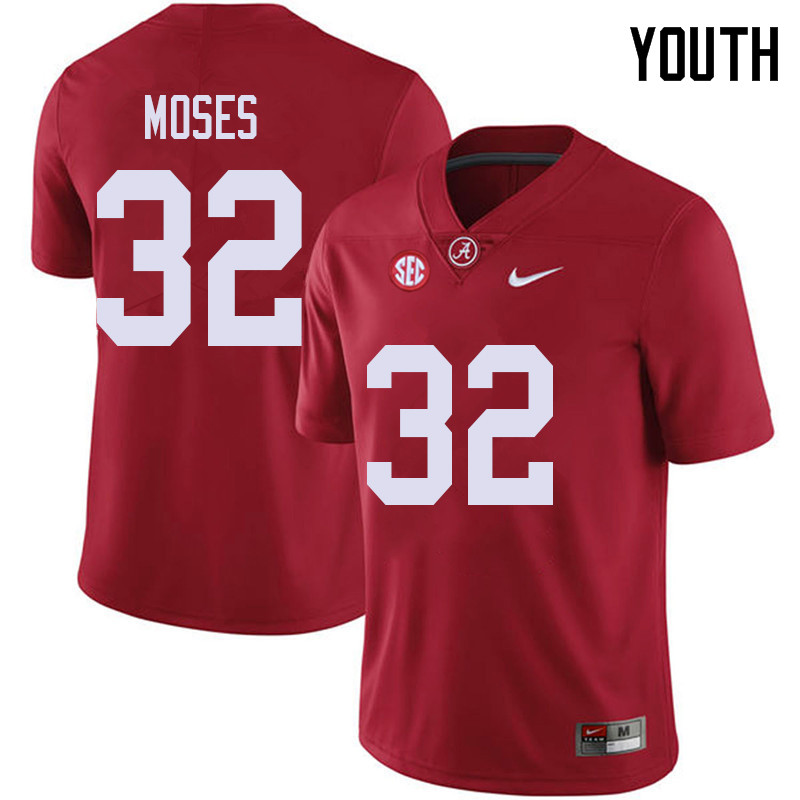 Youth #32 Dylan Moses Alabama Crimson Tide College Football Jerseys Sale-Red