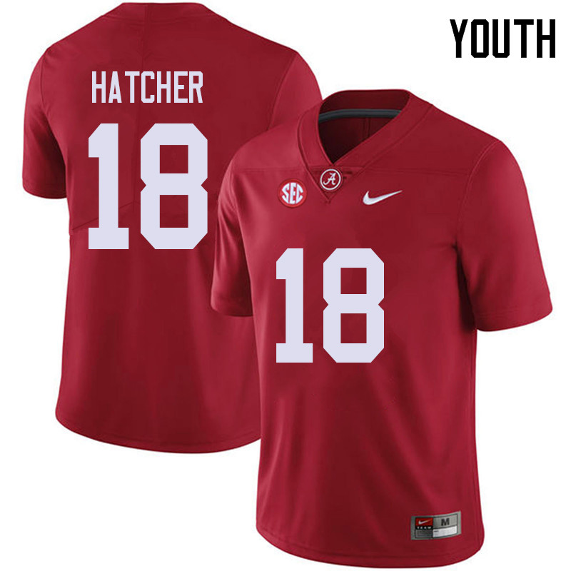 Youth #18 Layne Hatcher Alabama Crimson Tide College Football Jerseys Sale-Red