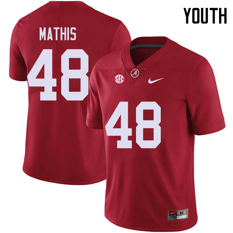 Youth #48 Phidarian Mathis Alabama Crimson Tide College Football Jerseys Sale-Red