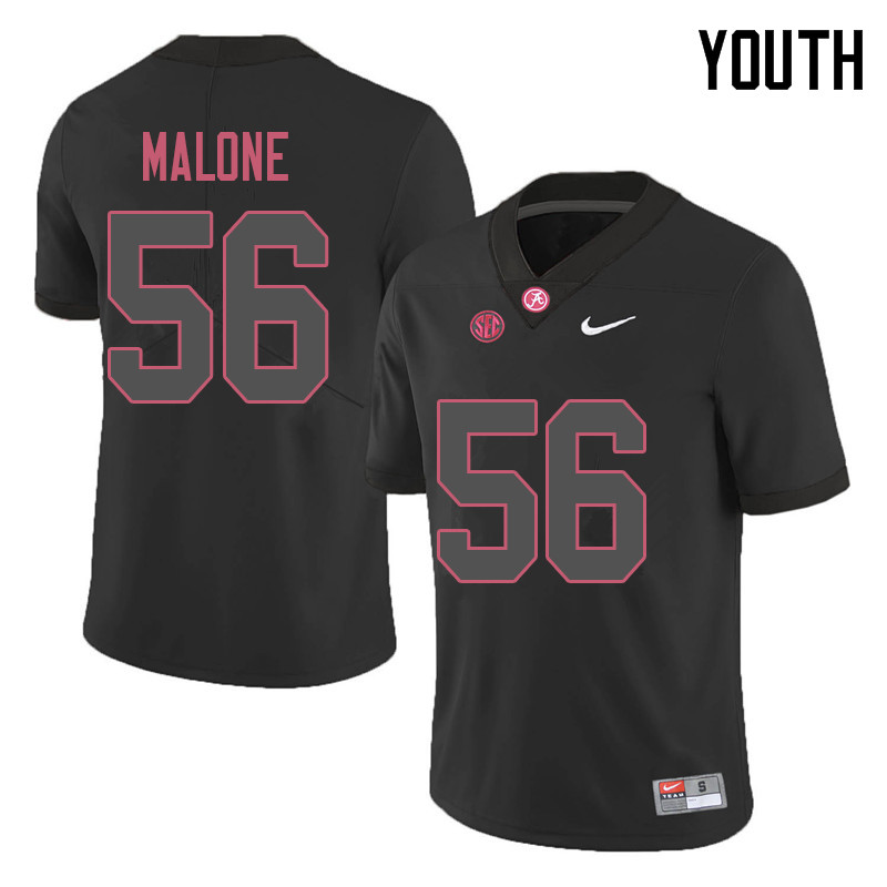 Youth #56 Preston Malone Alabama Crimson Tide College Football Jerseys Sale-Black