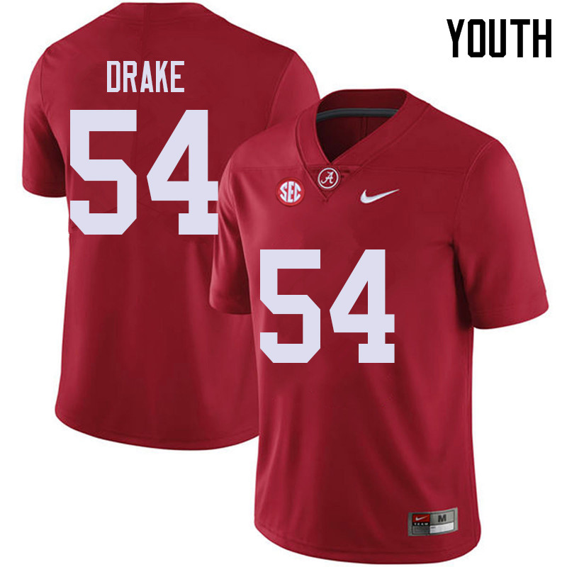 Youth #54 Trae Drake Alabama Crimson Tide College Football Jerseys Sale-Red