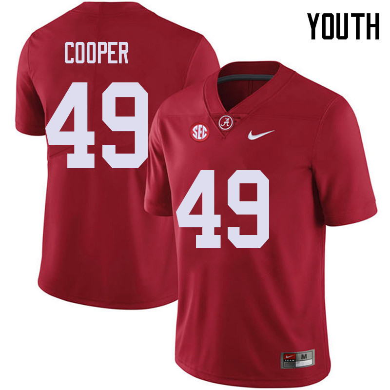Youth #49 William Cooper Alabama Crimson Tide College Football Jerseys Sale-Red