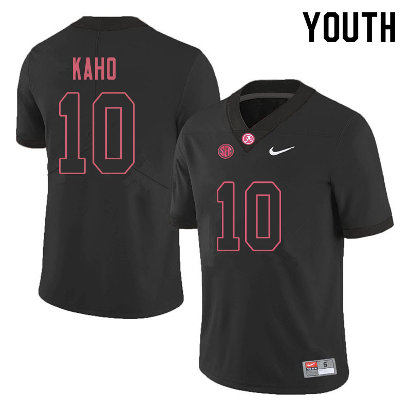 Youth #10 Ale Kaho Alabama Crimson Tide College Football Jerseys Sale-Blackout