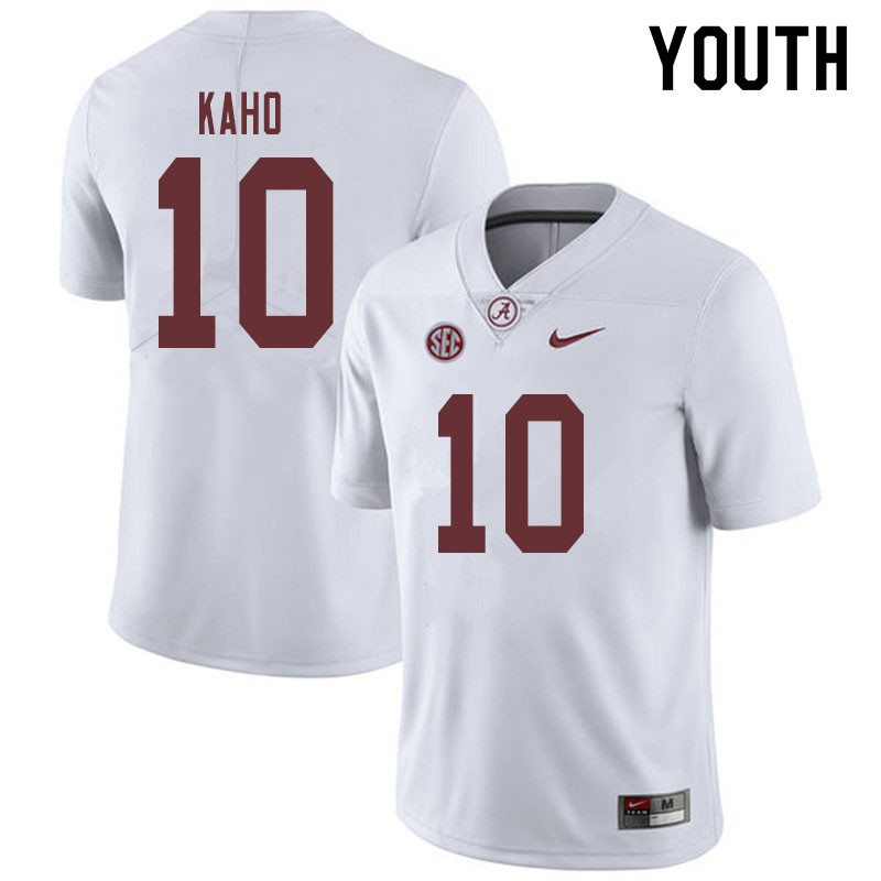 Youth #10 Ale Kaho Alabama Crimson Tide College Football Jerseys Sale-White