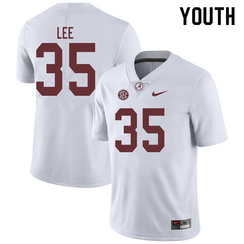 Youth #35 Shane Lee Alabama Crimson Tide College Football Jerseys Sale-White