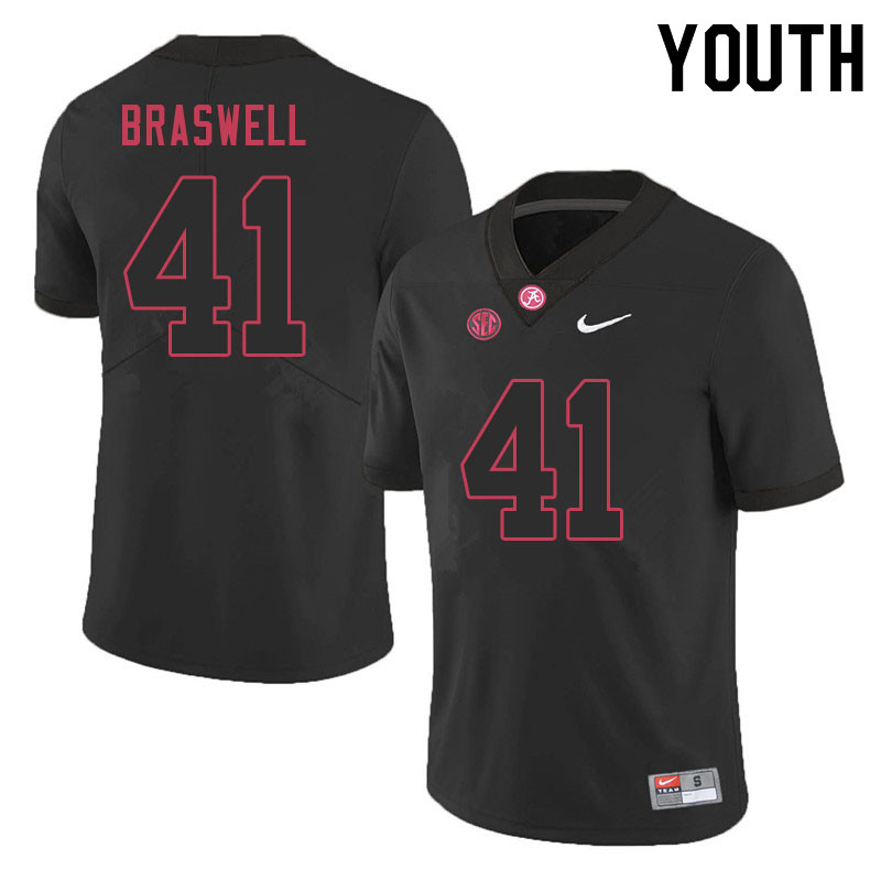 Youth #41 Chris Braswell Alabama Crimson Tide College Football Jerseys Sale-Black