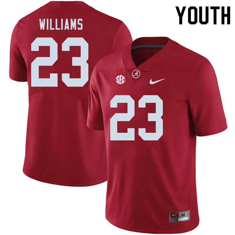 Youth #23 Roydell Williams Alabama Crimson Tide College Football Jerseys Sale-Crimson